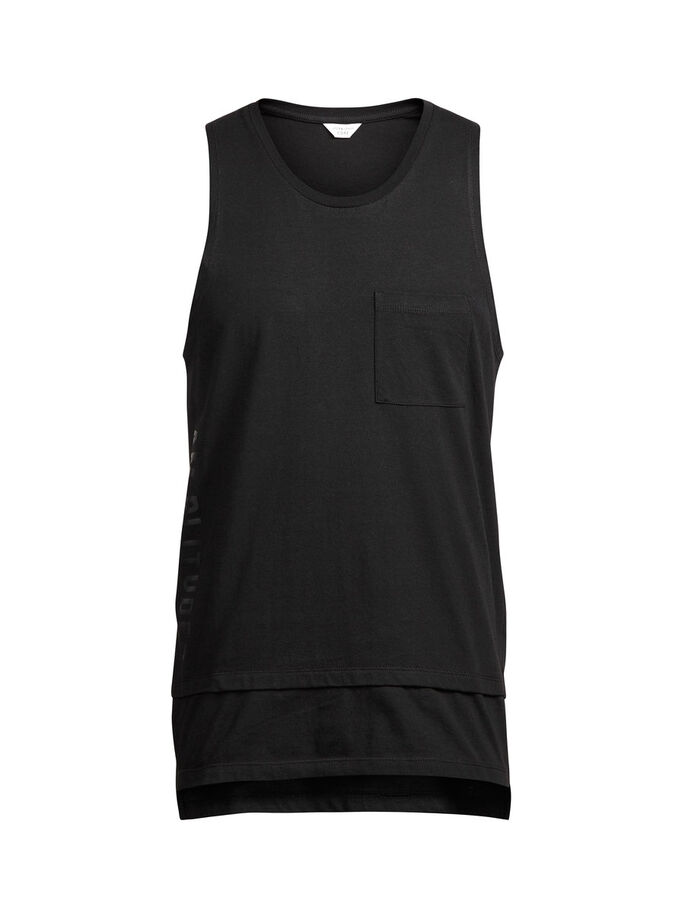 DETAILED TANK TOP, Black, large