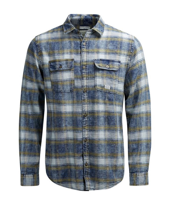 CHECK UTILITY LONG SLEEVED SHIRT, Narcissus, large