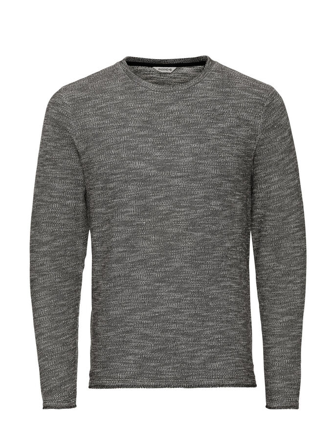 ROBUST MELANGE SWEATSHIRT, Caviar, large