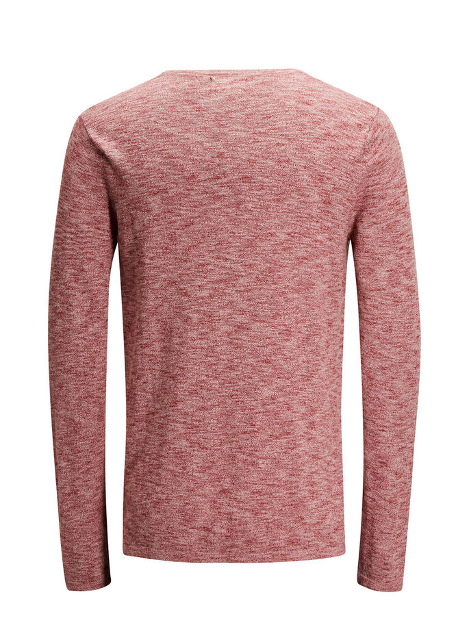 VIELSEITIGER STRICKPULLOVER, Rosewood, large