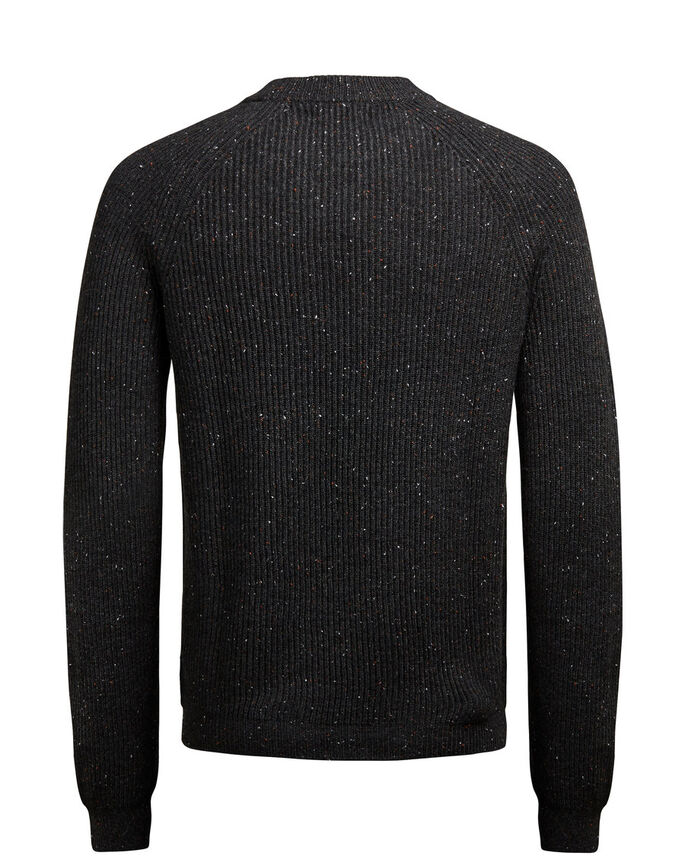 WOLL- STRICKPULLOVER, Dark Grey Melange, large