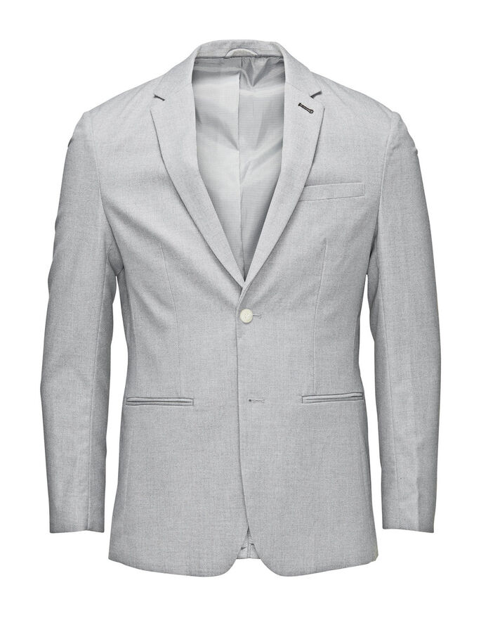 ELEGANT BLAZER, Light Grey Melange, large