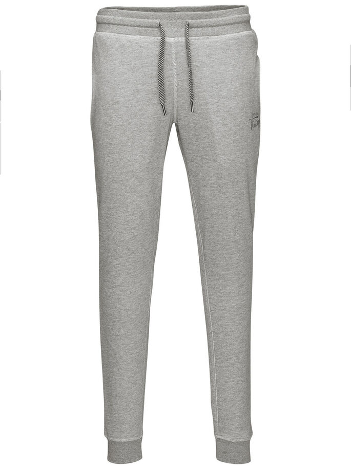 RECYCLED SWEAT PANTS, Light Grey Melange, large