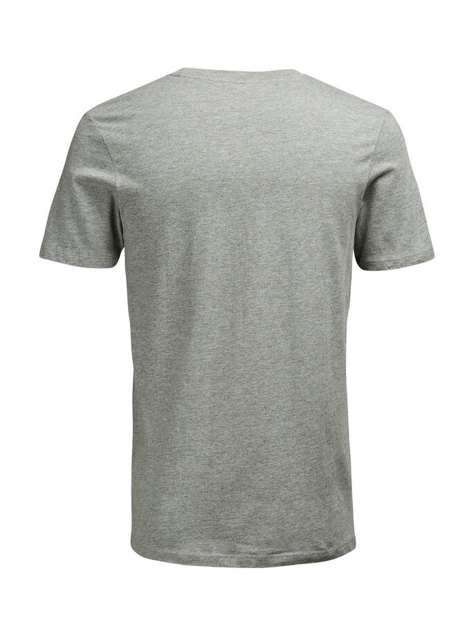 COULEUR VIVE T-SHIRT, Light Grey Melange, large