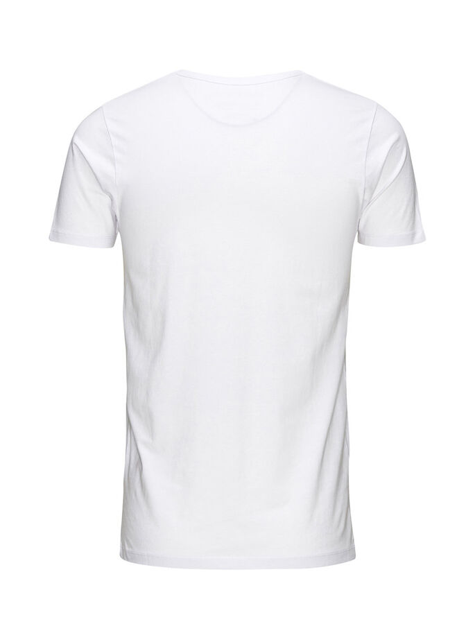 BASIC V-NECK REGULAR FIT T-SHIRT, OPT WHITE, large