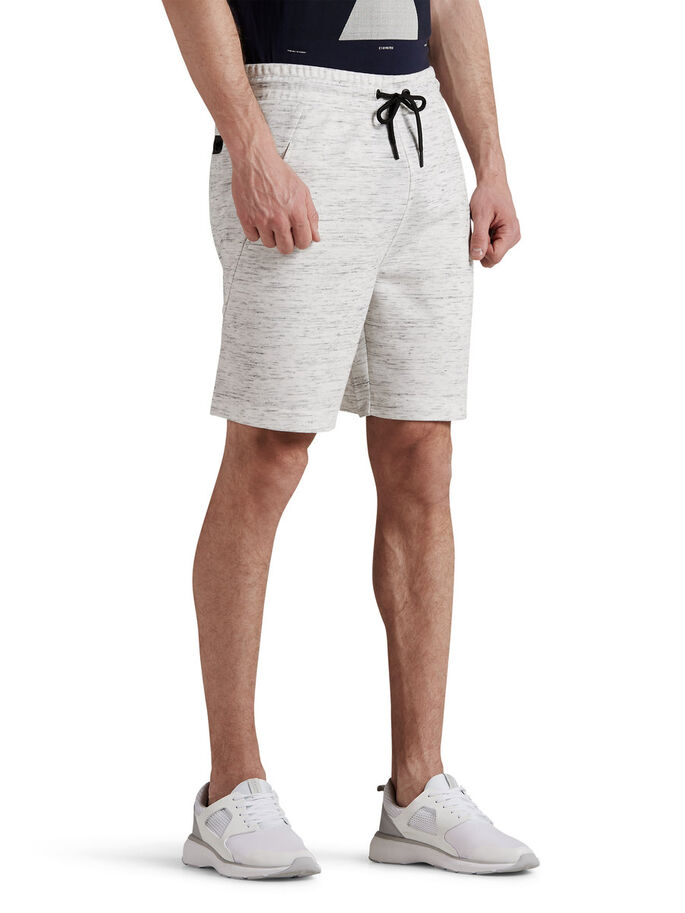 REGULAR FIT SWEAT SHORTS, Treated White, large