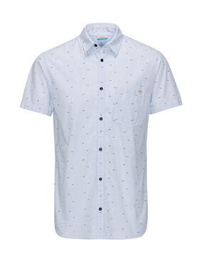 SHARK PRINT SHORT SLEEVED SHIRT