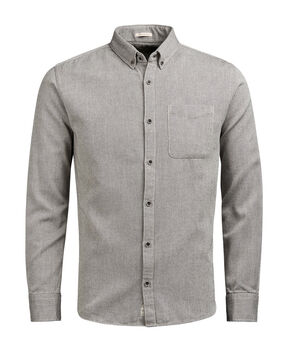 GEMUSTERTES BUTTON-DOWN- LANGARMHEMD