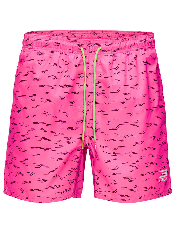 GRAPHIC PRINT SWIMSHORTS, Knockout Pink, large