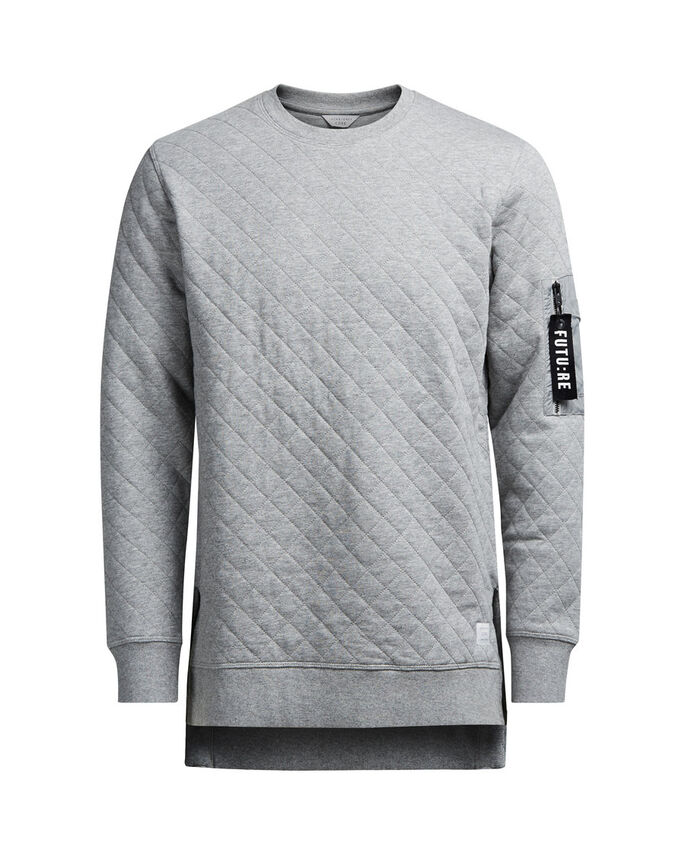 DETALJERT SWEATSHIRT, Light Grey Melange, large