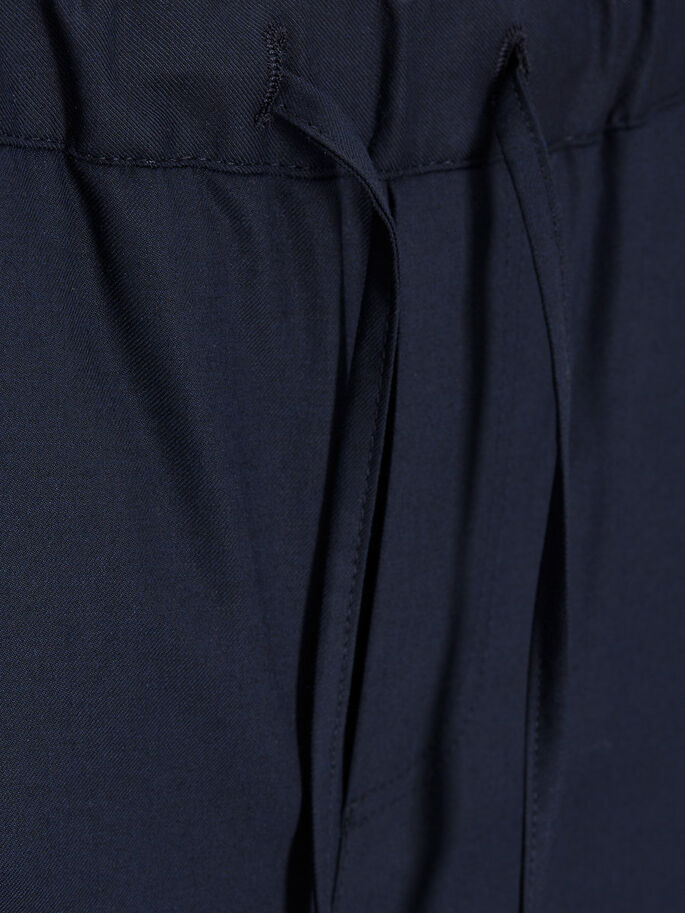 ELASTICATED WAIST TROUSERS, Dark Navy, large