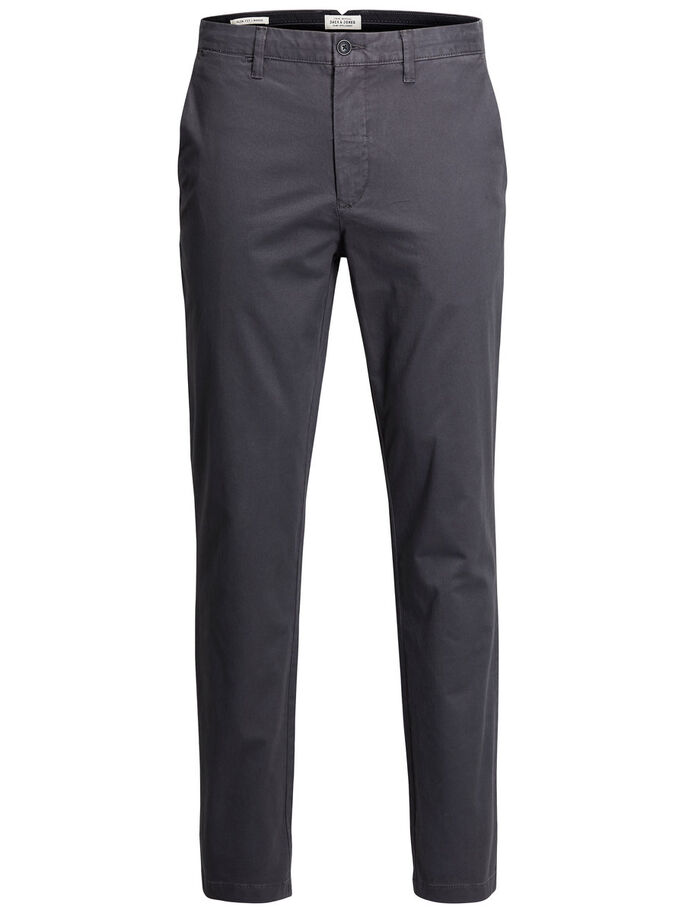 MARCO ENZO DARK GREY CHINOS, Dark Grey, large