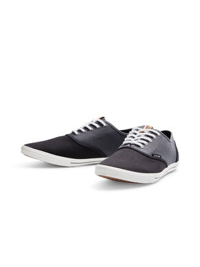 BLACK AND GREY CANVAS SNEAKERS