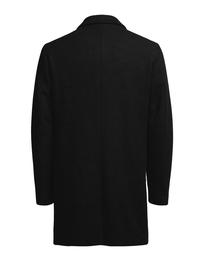 WOOL BLEND COAT, Black, large