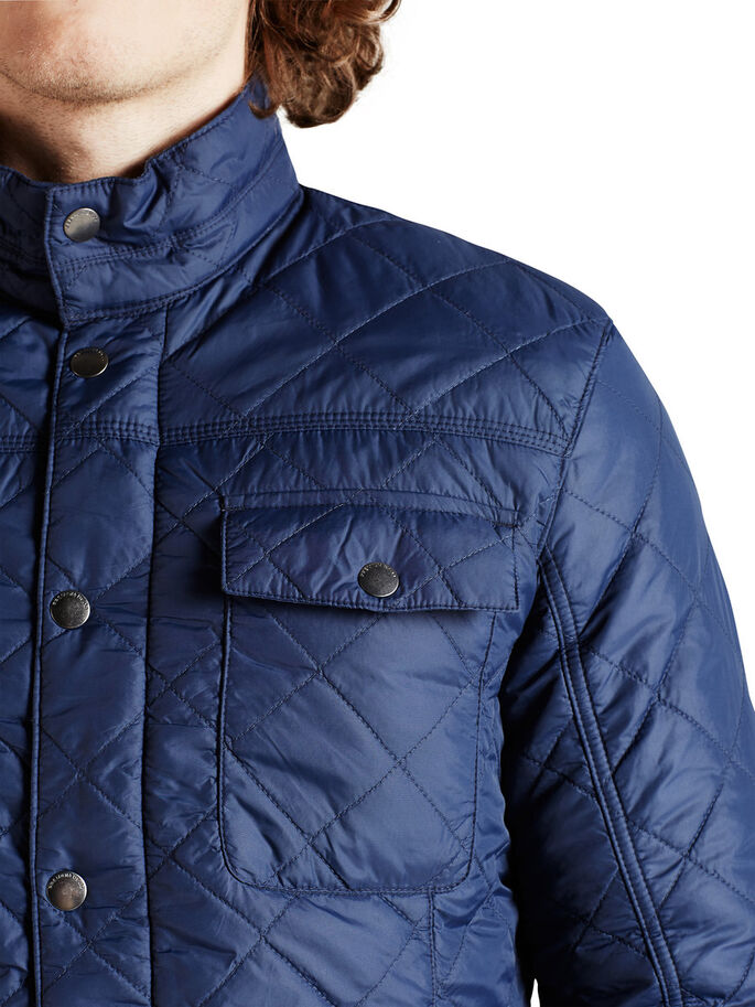 QUILTED JACKET, Mood Indigo, large
