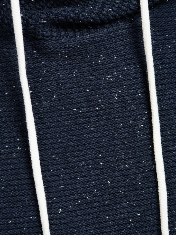 CLASSIC KNIT HOODIE, Navy Blazer, large