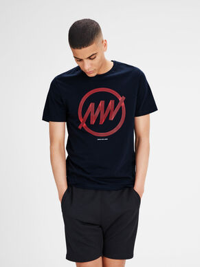 BEDRUCKTES SLIM-FIT T-SHIRT