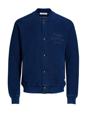 TEINTURE INDIGO BASEBALL SWEAT-SHIRT
