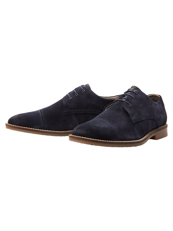 SUEDE SHOES, Navy Blazer, large
