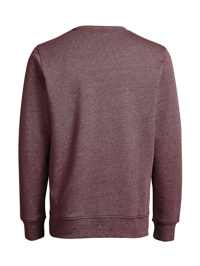 MELANGE SWEATSHIRT, Burgundy, large