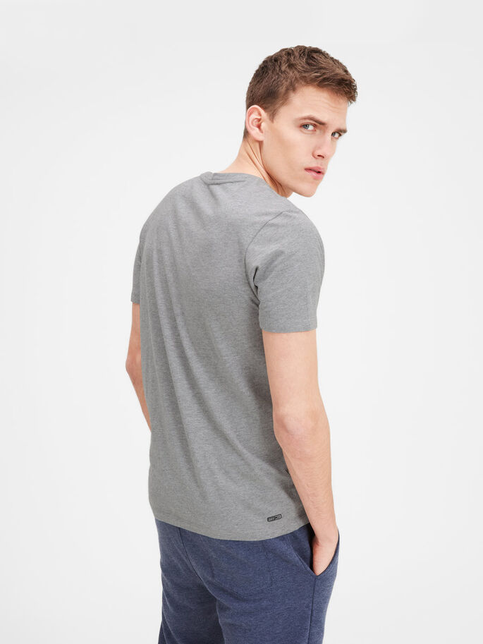 QUICK DRY T-SHIRT, Light Grey Melange, large