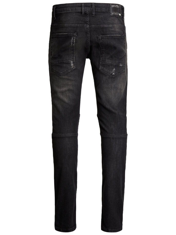 JJIGLENN JJRYDER JOS 456 NOOS JEANS SLIM FIT, Black Denim, large