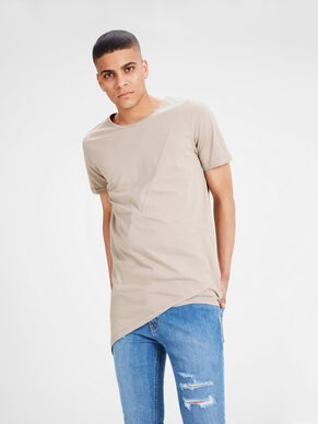 PLAIN LONGLINE SLIM FIT T-SHIRT