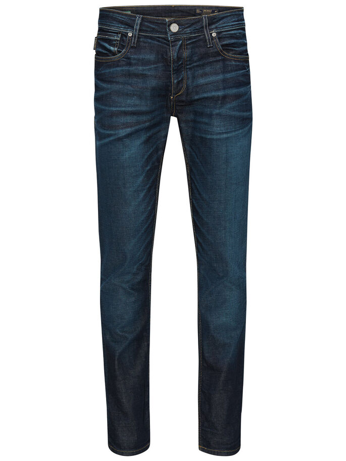 CLARK ORIGINAL BL 178 JEANS REGULAR FIT, Medium Blue Denim, large