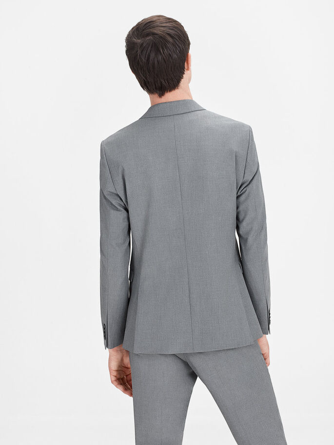 SUBTLE MELANGE BLAZER, Dark Grey, large