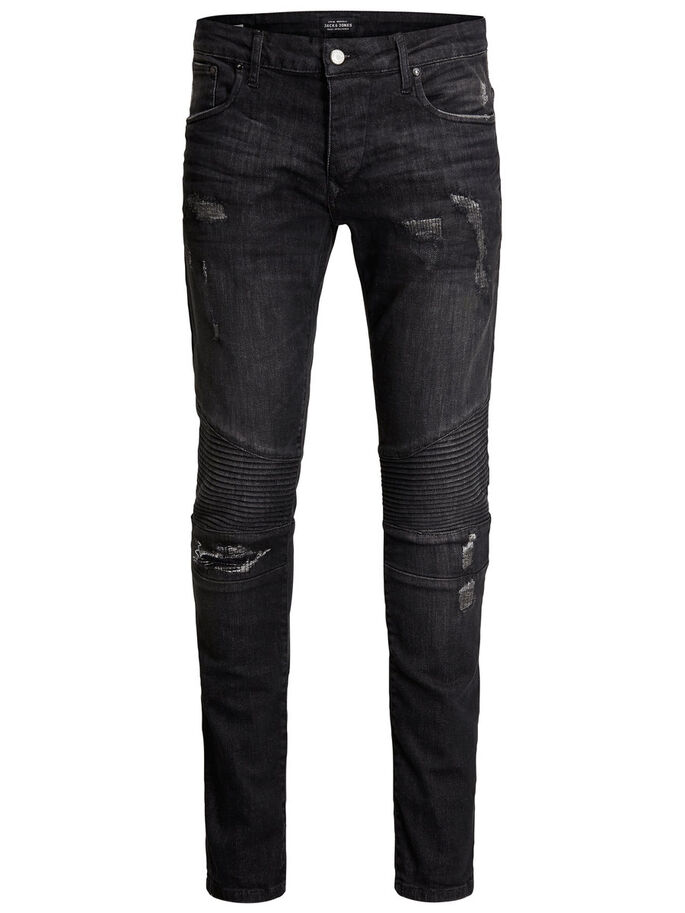 JJIGLENN JJRYDER JOS 456 NOOS SLIM FIT JEANS, Black Denim, large