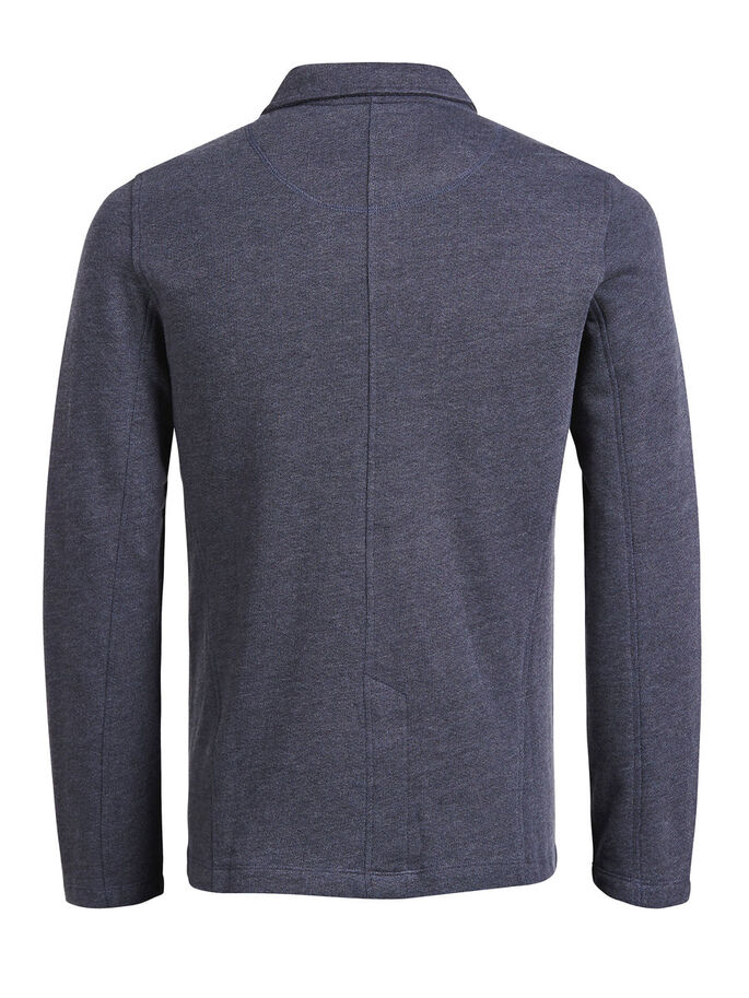 MÉLANGE SWEAT BLAZER, Mood Indigo, large