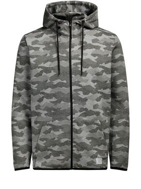 CAMOUFLAGE ZIPPED SWEAT