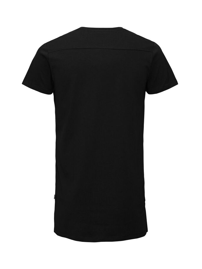 LONGLINE- T-SHIRT, Black, large