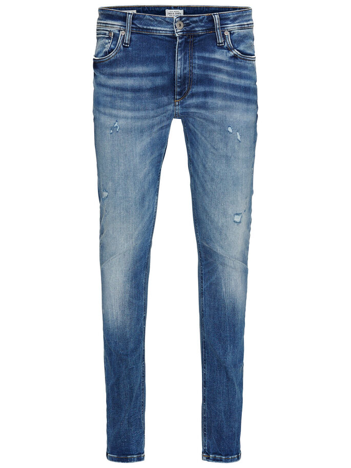 LIAM ORIGINAL JOS 485 SKINNY FIT JEANS, Blue Denim, large