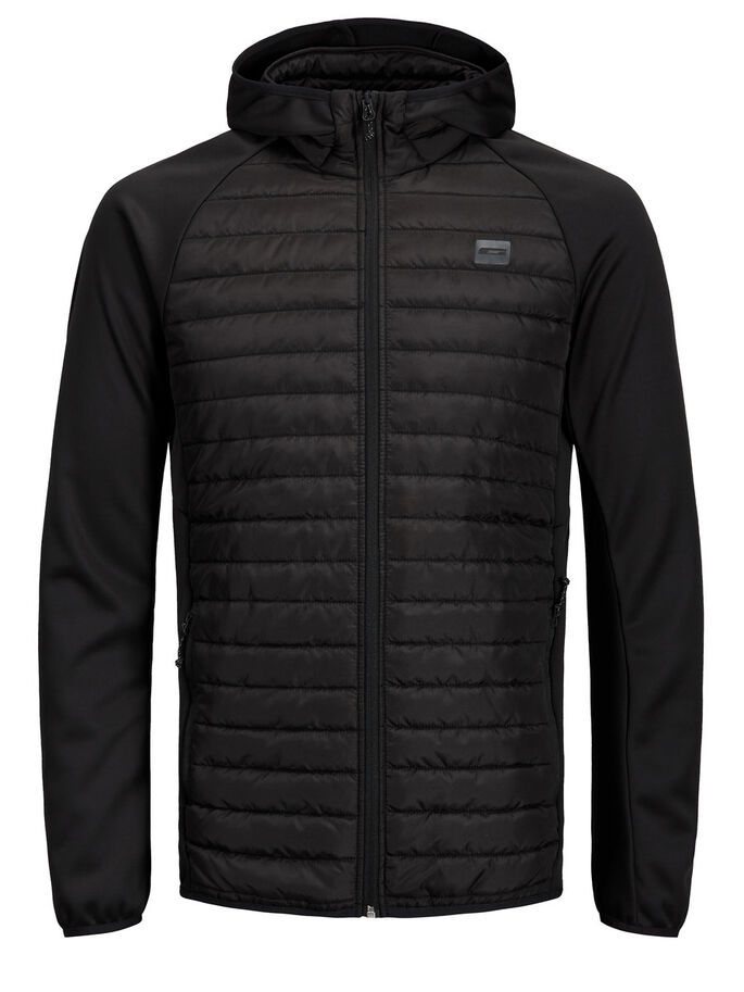MULTI QUILTED JACKET, Black, large