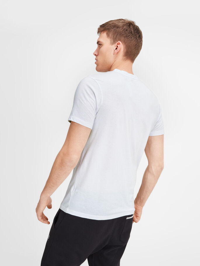QUICK DRY T-SHIRT, White, large