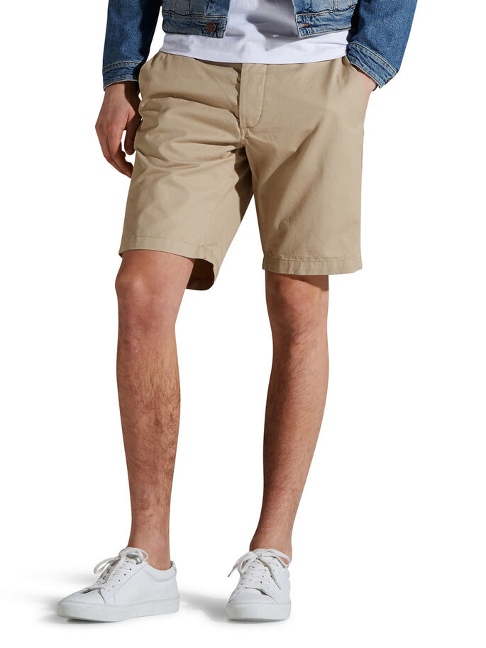 JJGRAHAM AKM 202 SHORTS CHINOS, White Pepper, large