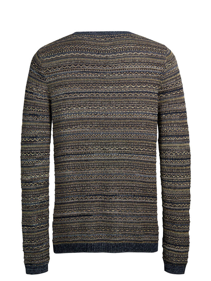JACQUARD-STRICK- PULLOVER, Total Eclipse, large