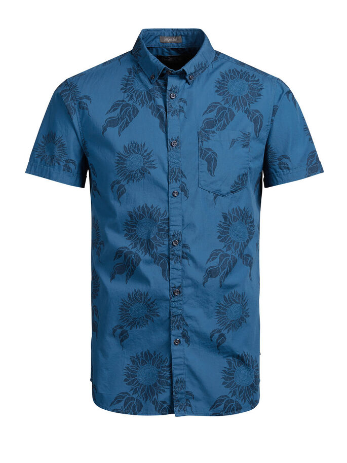 ALL-OVER PRINTED SHORT SLEEVED SHIRT, Poseidon, large