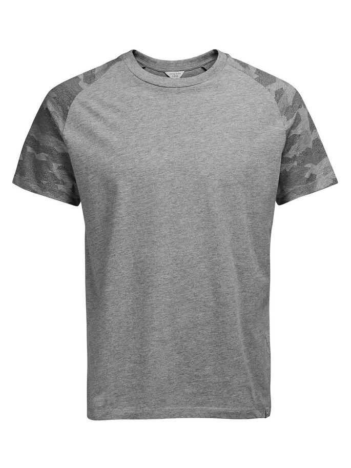 DE CAMUFLAJE CAMISETA, Light Grey Melange, large