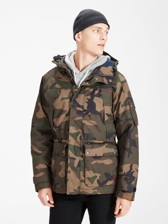SHORT PARKA PARKA COAT, Rosin, large