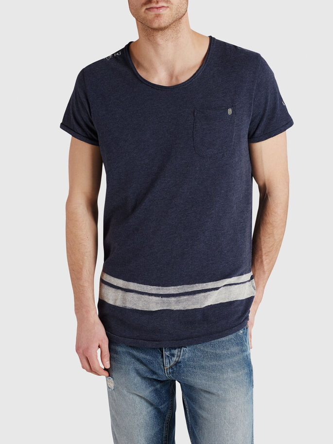 RUGGED PRINTED T-SHIRT, Mood Indigo, large
