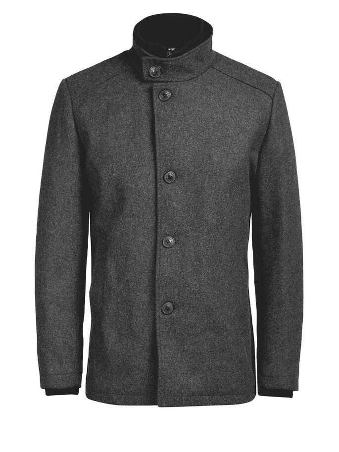 MARKANTE WOLL- JACKE, Dark Grey, large
