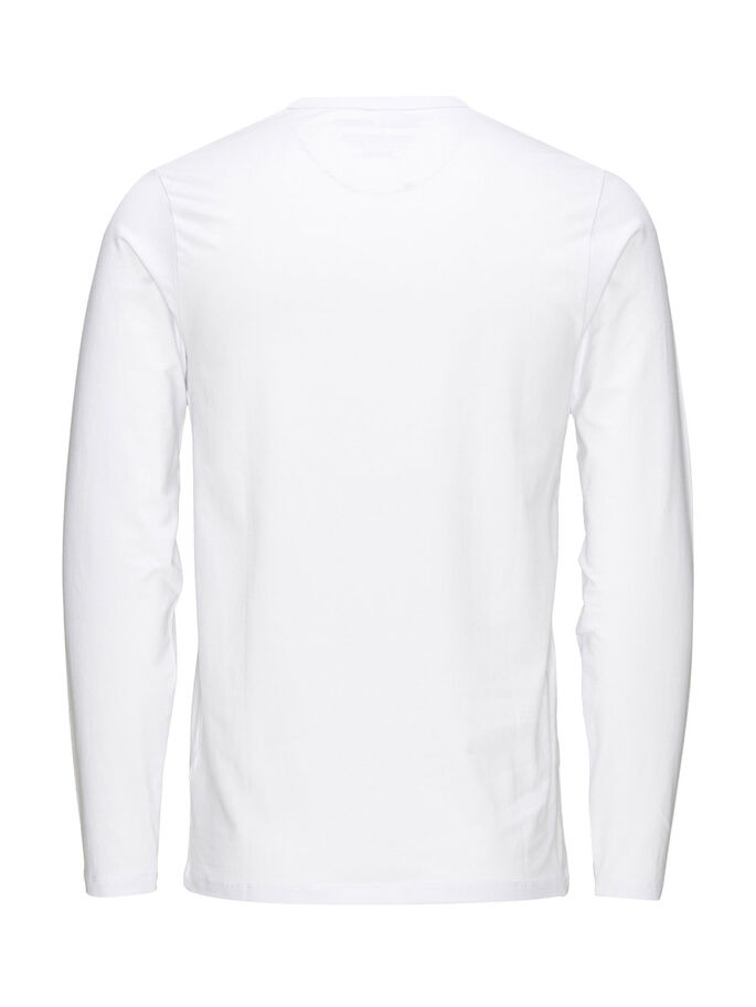 BASIC LONG-SLEEVED T-SHIRT, OPT WHITE, large