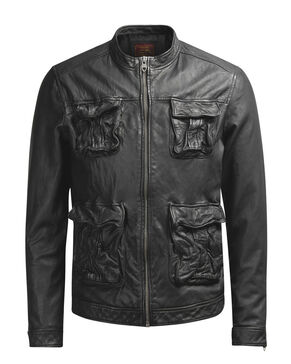 LEATHER LEREN JAS