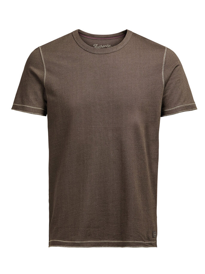 DETAILED T-SHIRT, Black Olive, large