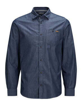 IN DENIM CAMICIA A MANICHE LUNGHE