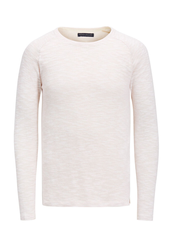 MELANGE SWEATSHIRT, Sepia Rose, large