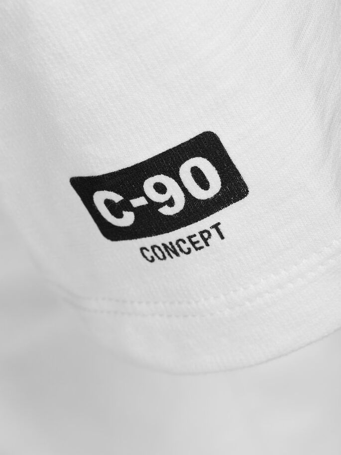 C-90 GRAPHIC T-SHIRT, Blanc de Blanc, large