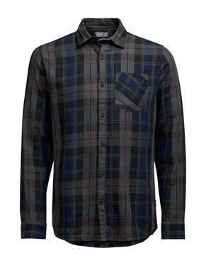 CASUAL SLIM FIT CHECKED LONG SLEEVED SHIRT